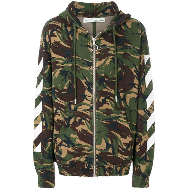 Off White Camouflage Hooded 720 Liked On Polyvore Featuring