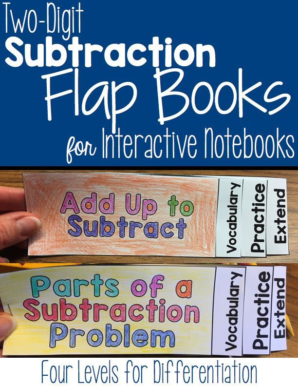Two-digit subtraction flap books for interactive notebooks contains flap books…