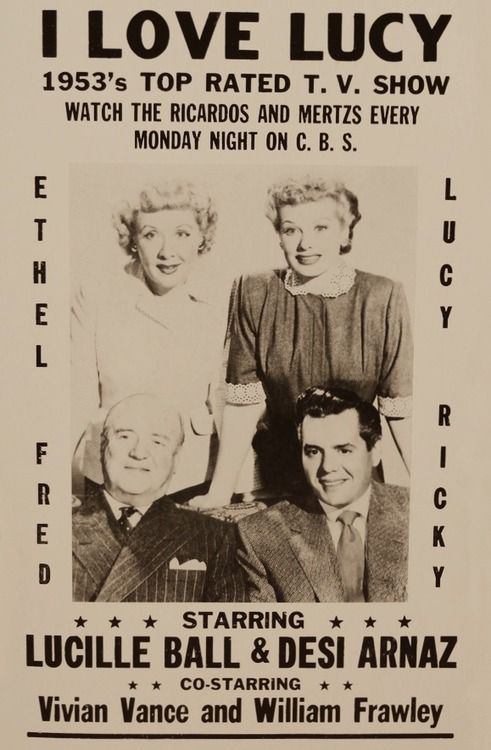 I Love Lucy television show ad  1953