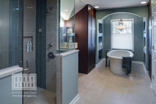 Transitional bath design by drury design kitchen bath studio via flickr