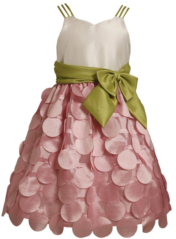 Bonnie jean tween girls 716 pink ivory green