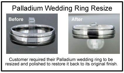 palladium wedding ring repair Palladium ring resized JD Jewellery