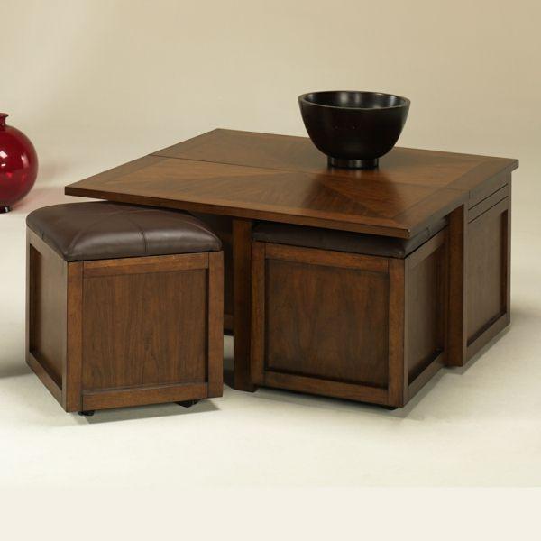 La Table Basse Avec Pouf Pour Un Style De Vie Moderne Fabric