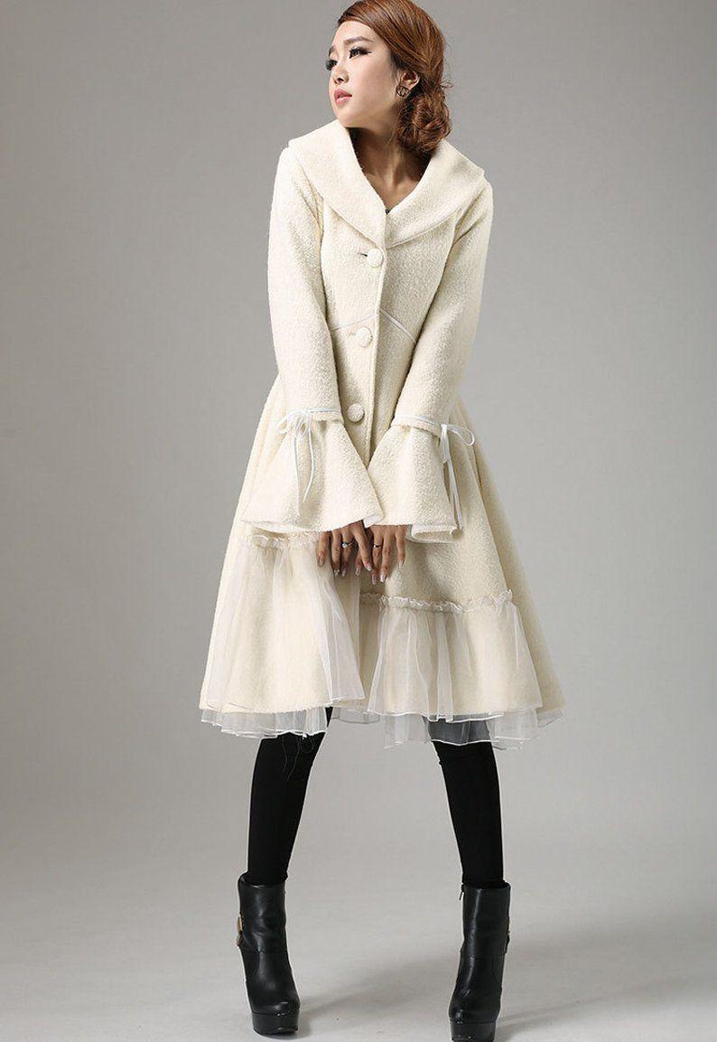 White Wool Coat Wool Coat Winter Coat Wool Coat For Women Etsy White Wool Coat Long Red Wool Coat Wool Coat [ 1153 x 794 Pixel ]