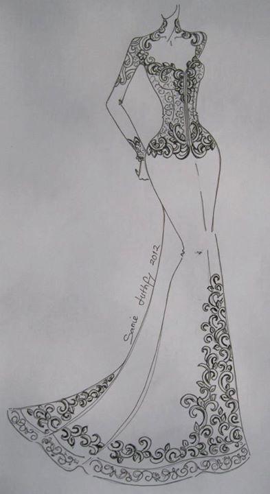 Pin By Touha Benisaf On Karakou Illustration Fashion Design Fashion Design Sketches Dress Design Sketches