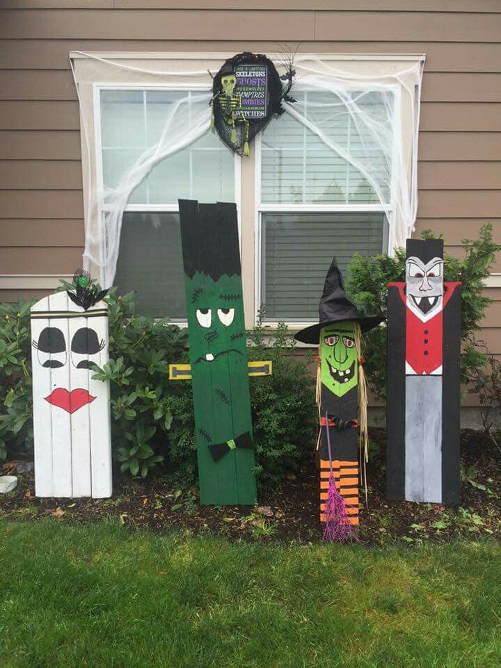 Halloween decorations from a pallet. | Halloween wood ...