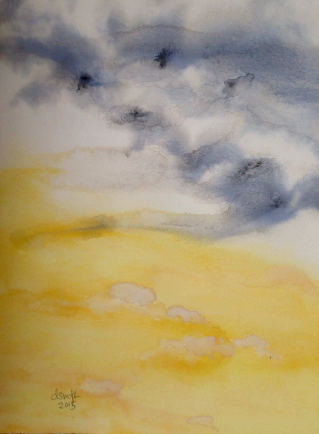 Prairie Sunshine. Original Abstract Watercolor Painting, Unframed ...