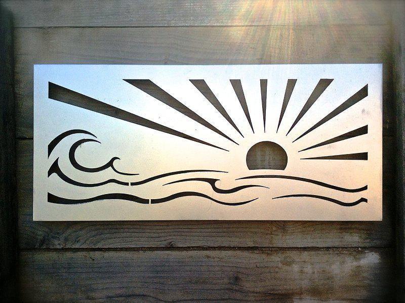Metal Wall Art Outdoor With Images Ocean Wall Art Outdoor