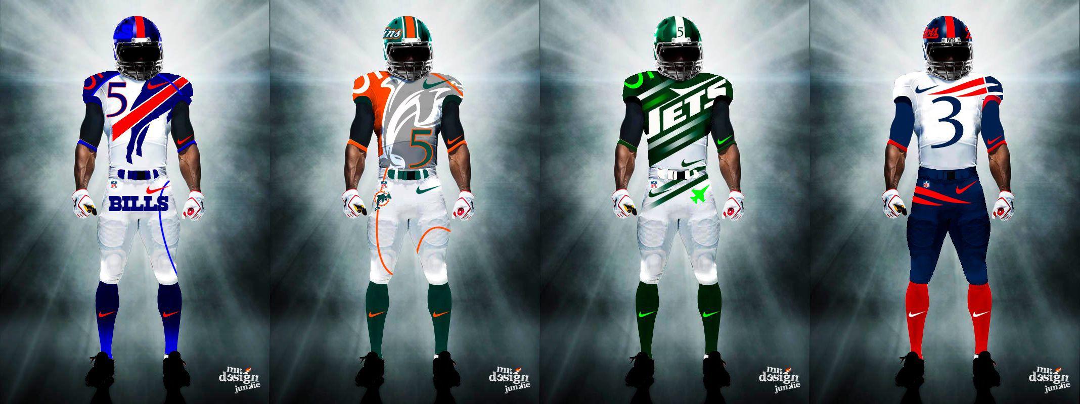 Mr Design Junkie All 32 Nfl Team S Uniforms Redesigned New Nfl Uniforms Nfl Uniforms 32 Nfl Teams