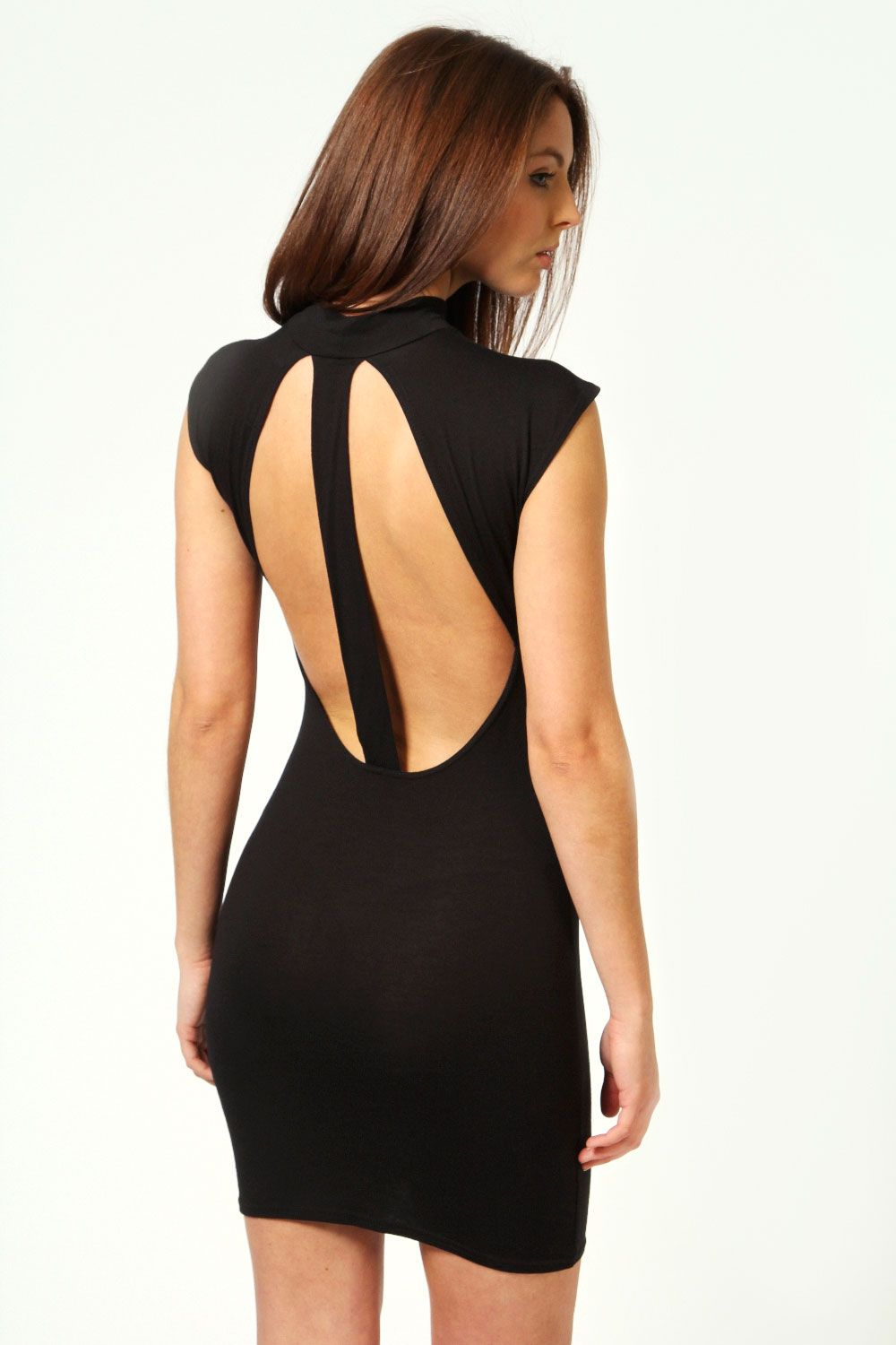 Claire open back detail bodycon dress backs with openings