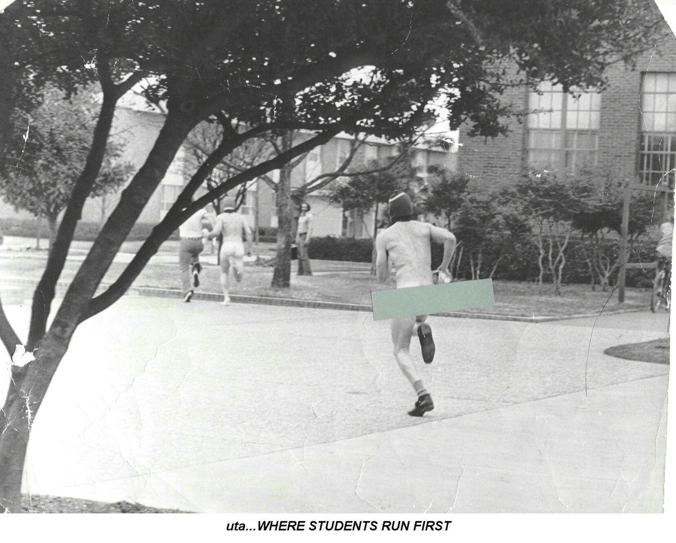 Streaking at UTA in 1974