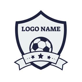 Blue Star And Gray Soccer Logo Design Creador De Logos