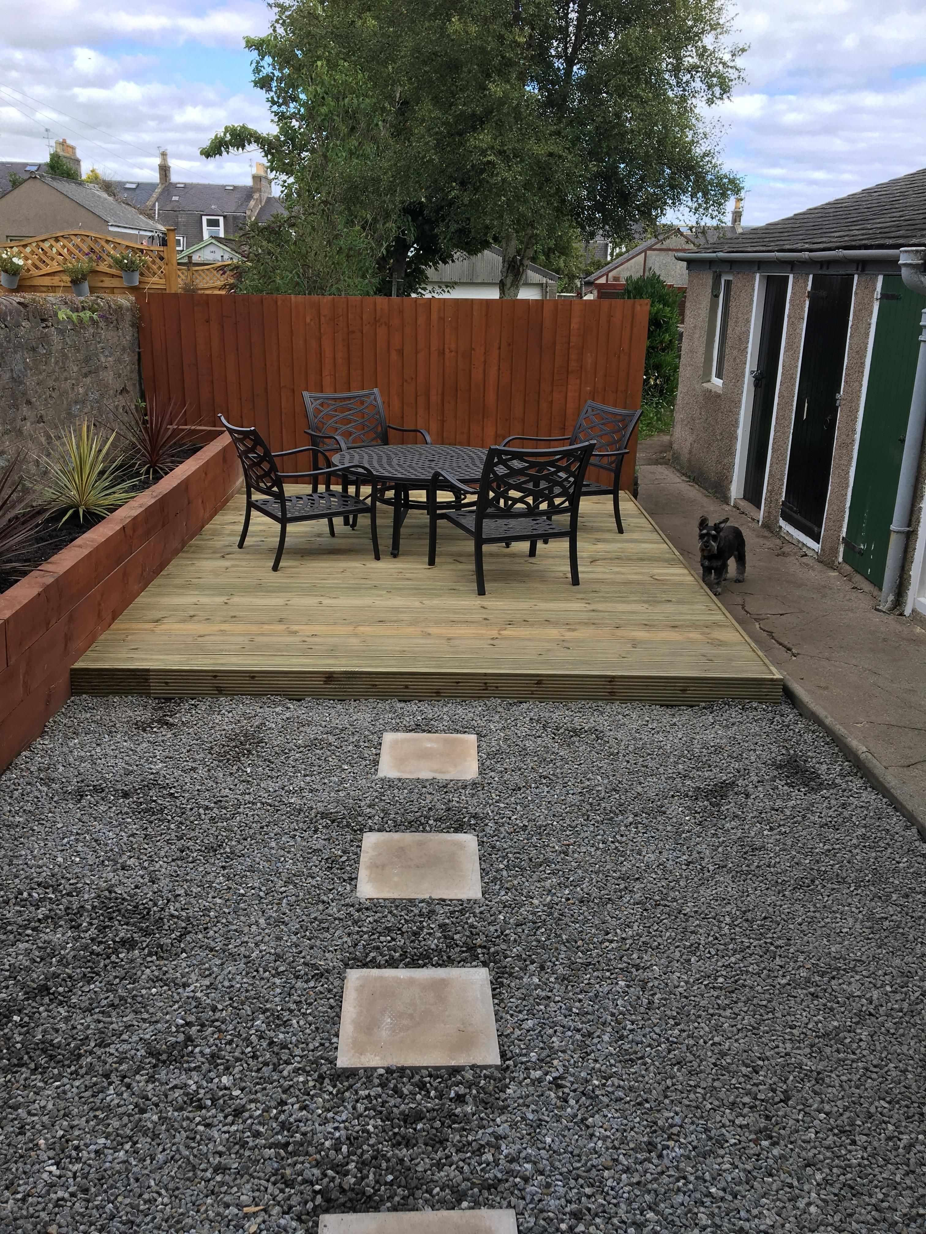 I upgraded my plain back garden with some decking! # ... on Diy Back Garden Ideas id=72655