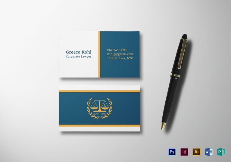 Lawyer business card template formats included illustrator lawyer business card template formats included illustrator indesign ms word photoshop fbccfo Image collections