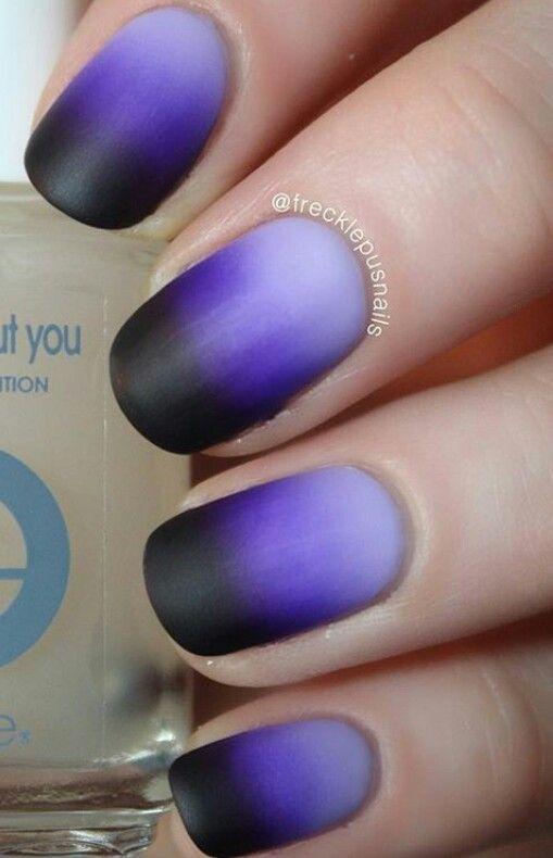 Purple black ombre Halloween nails | Cute toe nails ...