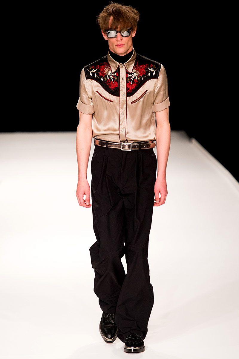 Pasarela: Nashville y estilo western en Topman Menswear SS14 #LCM // http://www.vogue.mx/desfiles/primavera-verano-2014-londres-topman-menswear/7025