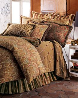 """+2954 Legacy By Friendly Hearts """"Cashmere Ruby Paisley"""" Bed Linens"""