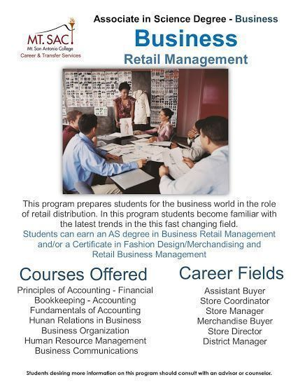 Associate in Science Degree in Business Retail Management Students ...