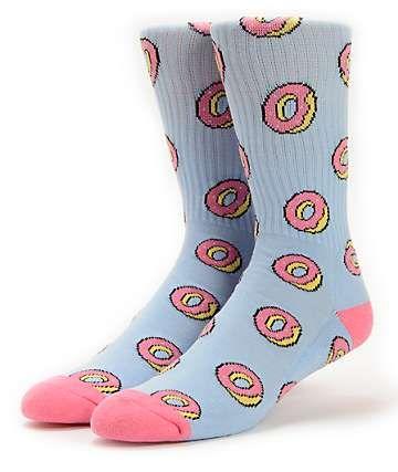 2fb3ec5433a933 Odd Future Donut Allover Blue Crew Socks