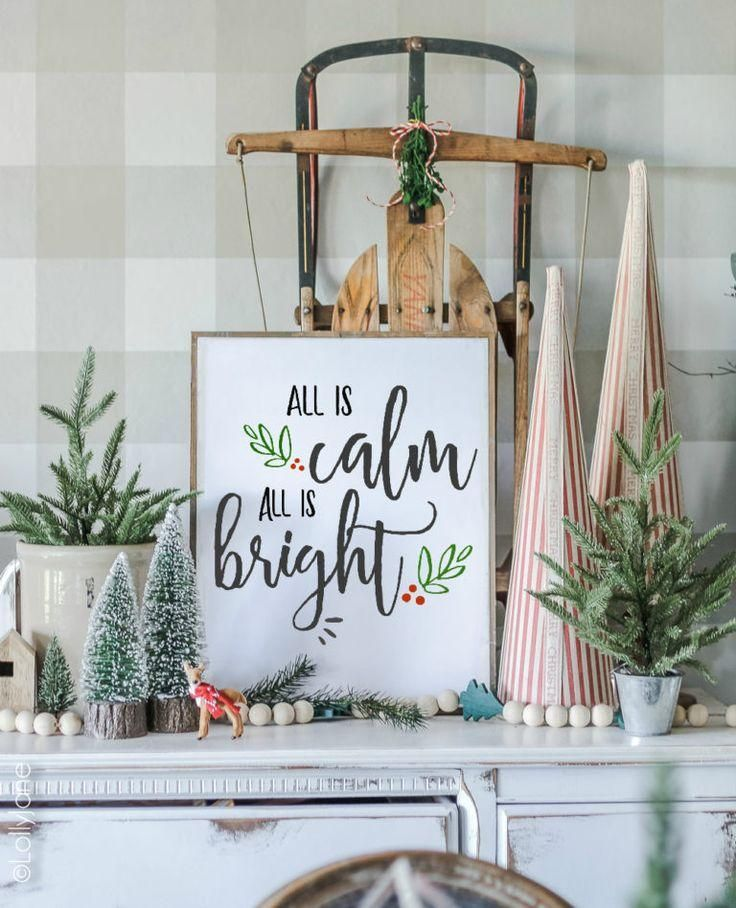 free printable silent night christmas art - Lolly Jane : Just print + create INSTANT festive cheer with this beautiful FREE