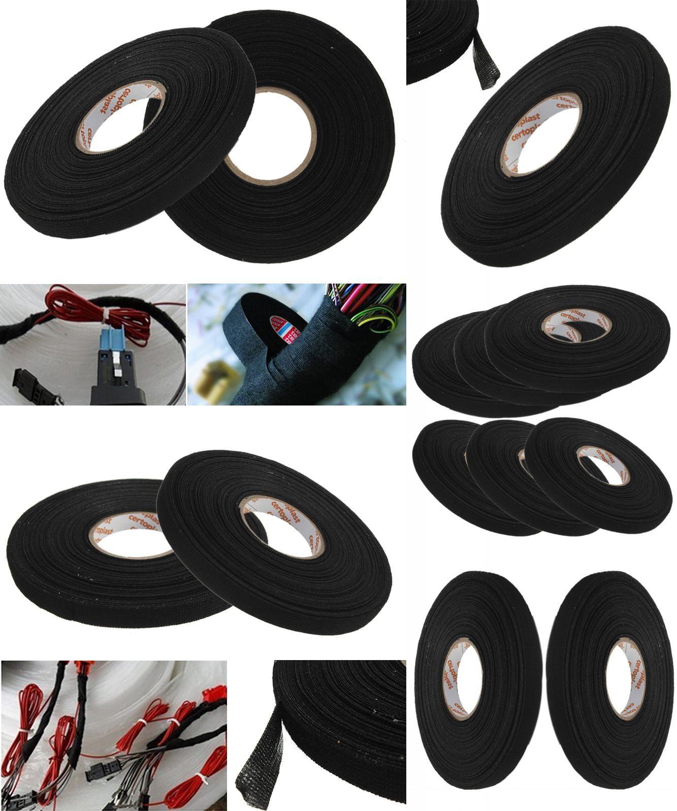 Visit To Buy 1pc Black Anti Wear Adhesive Cloth Fabric Tape Looms Wiring Loom