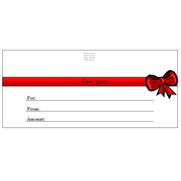 Whether you have a business and need to make a spa or restaurant - gift certificate template in word