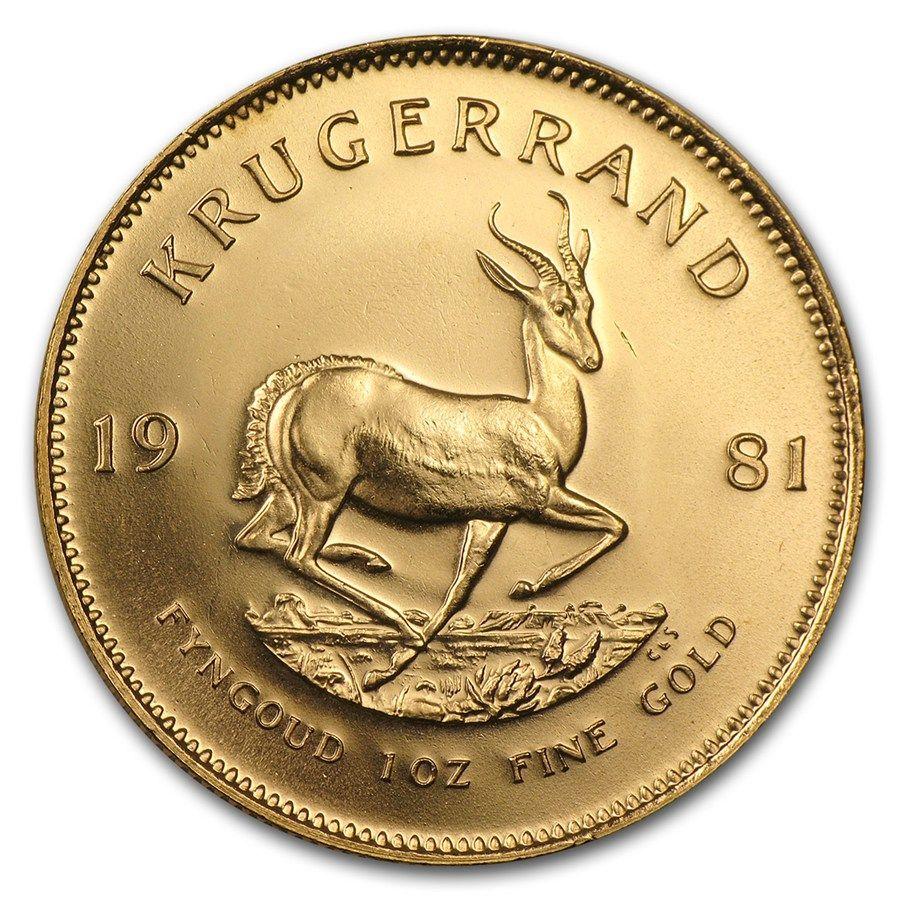 1981 South Africa 1 Oz Gold Krugerrand In 2020 Gold Krugerrand Gold Coins Silver Bullion