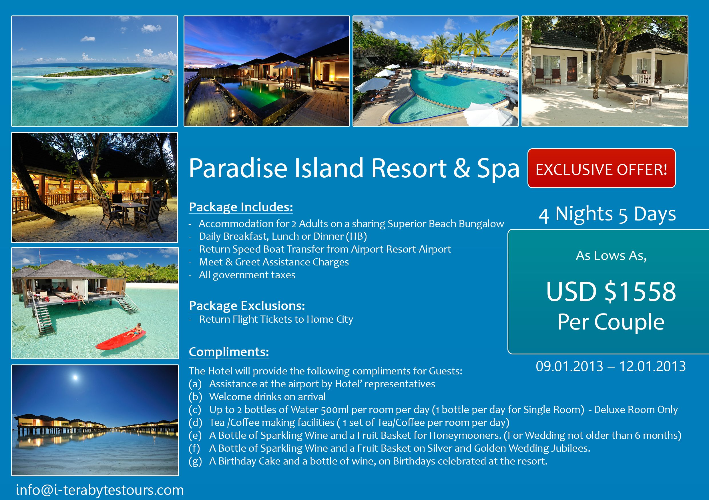4 Nights Holiday Package At Paradise Island Resort Spa