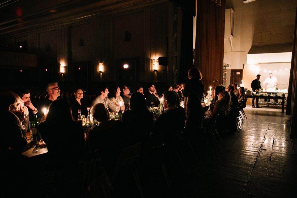 Bok Building Auditorium Intimate Wedding Reception Philadelphia