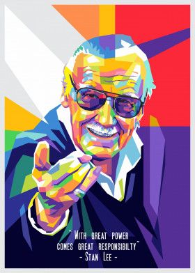 Legend Stan Lee Quotes | Displate thumbnail