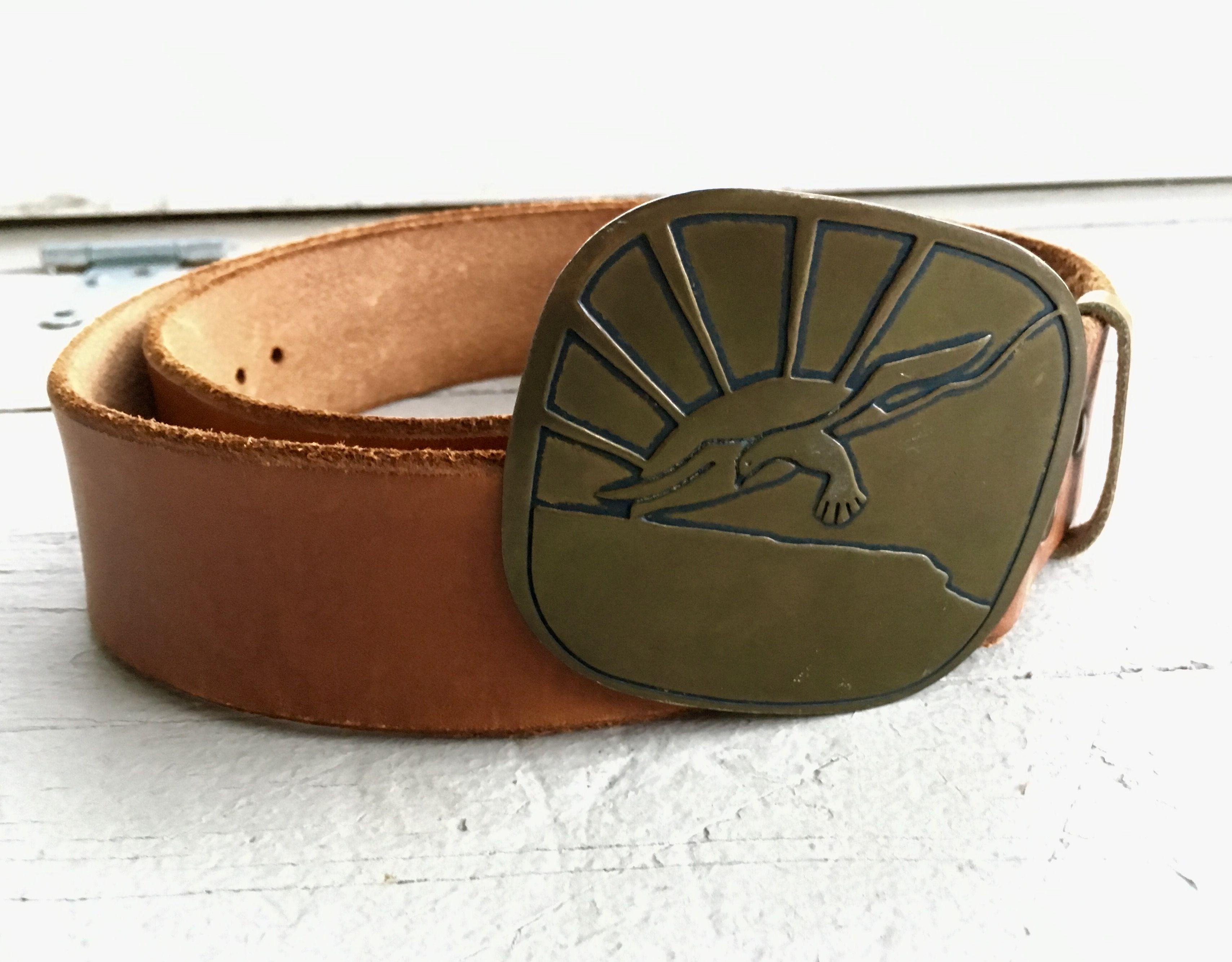 Vintage 70s Belt Buckle Belt Retro Cool Belt Buckle Fashion Seagull And Sunrise Accessories Available In My Etsy Shop Belt Buckles Accessories Etsy Shop