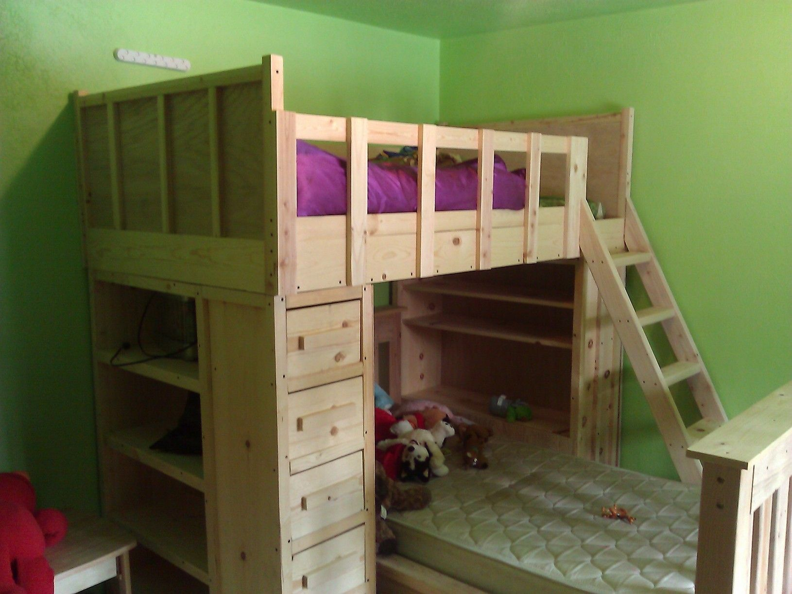 cabin bunk beds do it yourself home projects from ana white decorating ideas dream home. Black Bedroom Furniture Sets. Home Design Ideas