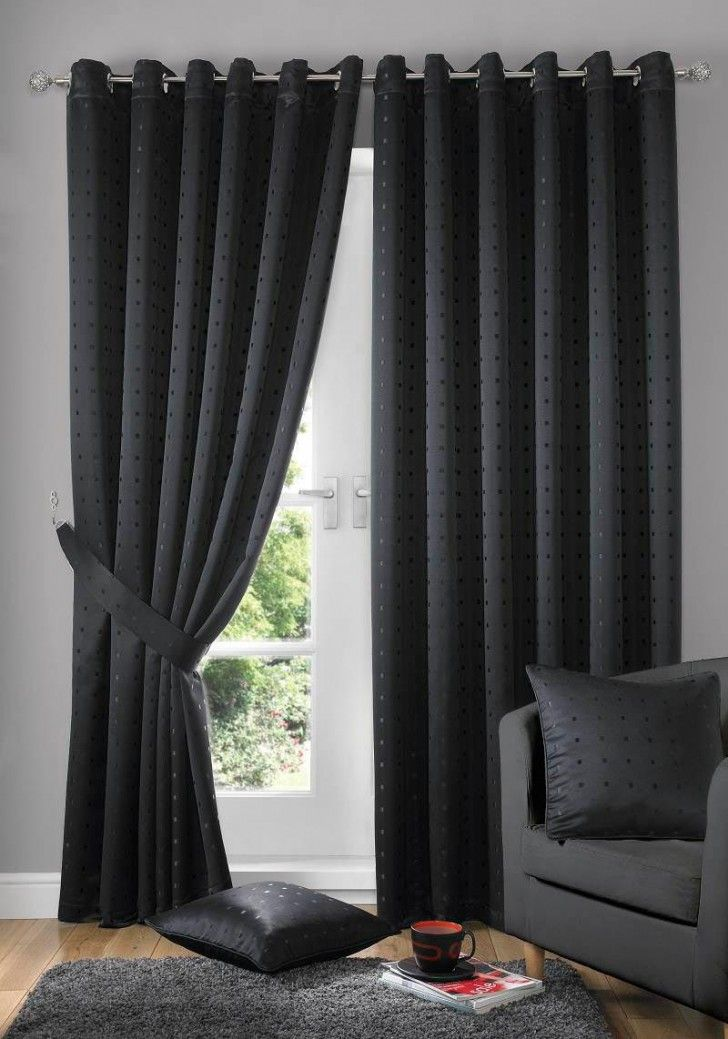 Excellent Living Room Curtain Ideas Modern Gorgeous Curtains With Black Colors For