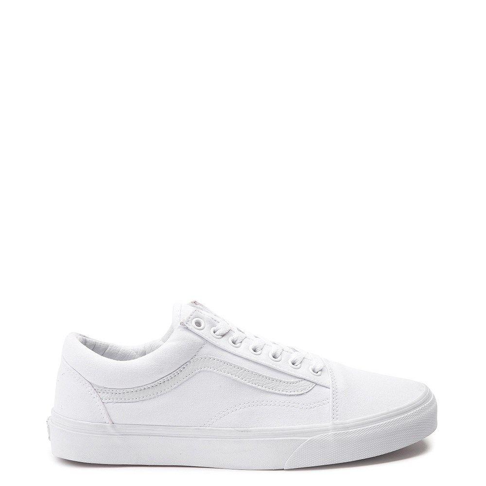 Vans Old Skool Skate Shoe White Monochrome | Vans old