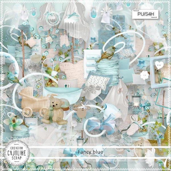 "CAJOLINE-SCRAP: Kit ""Fancy blue"" - PU/S4H"