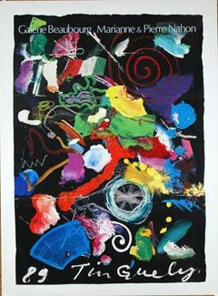 """I think the collage of objects, colors is interesting  """"Tinguely 1989 Beaubourg""""  Tingeuly 1989 Serigraph"""