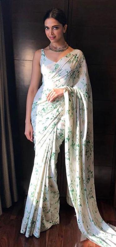 Deepika Padukone in a beautiful floral print designer ...
