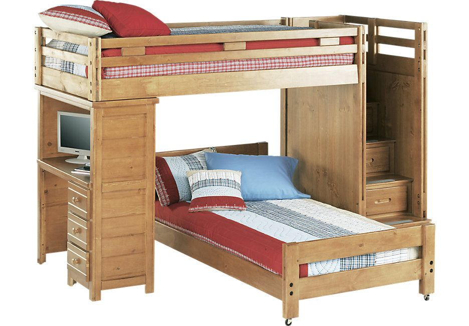 Bunk Bed With Desk Kid Beds
