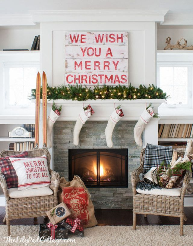 13 Ways to light up your fireplace with holiday magic Mantel ideas
