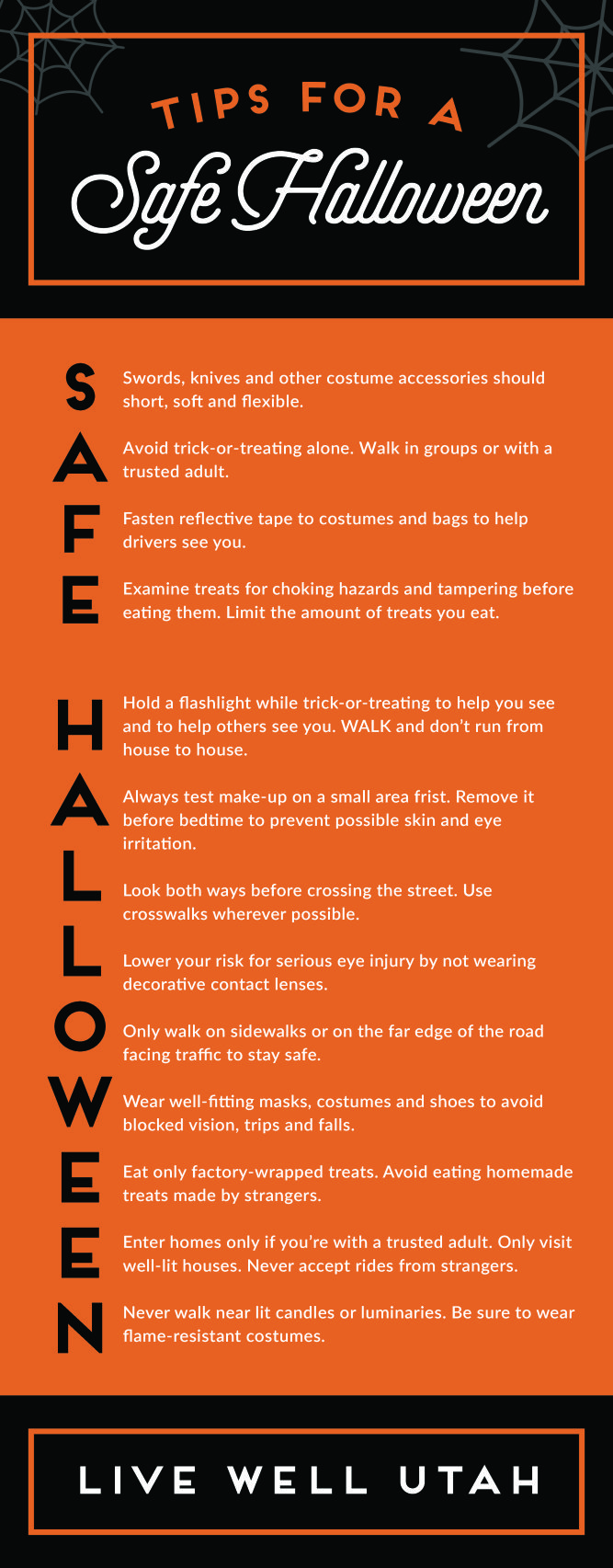 Tips for a Safe Halloween Halloween safety tips, Tips