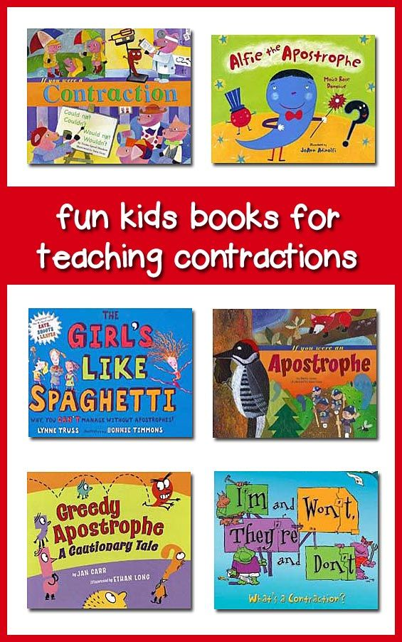 Childrens Books for Teaching Contractions and Possessives | reading