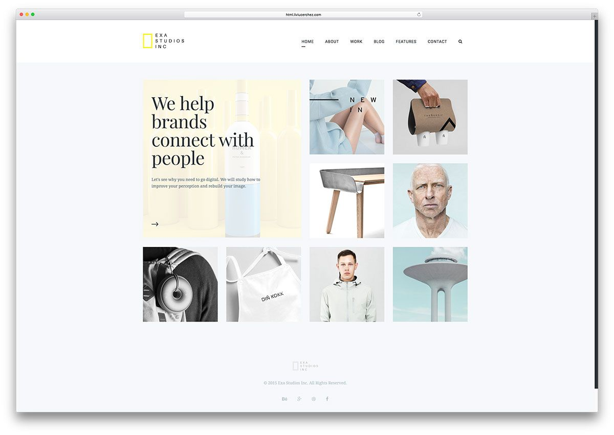exa-simple-gallery-html-website-template | Beautiful Websites ...
