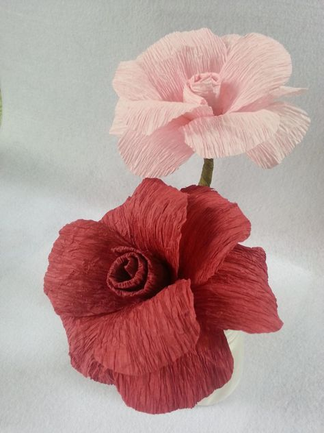 How to make crepe paper flowers diy and crafts pinterest crepe learn how to make this easy rose flower using crepe paper streamers you can get these streamers at the dollar stores or craft stores mightylinksfo