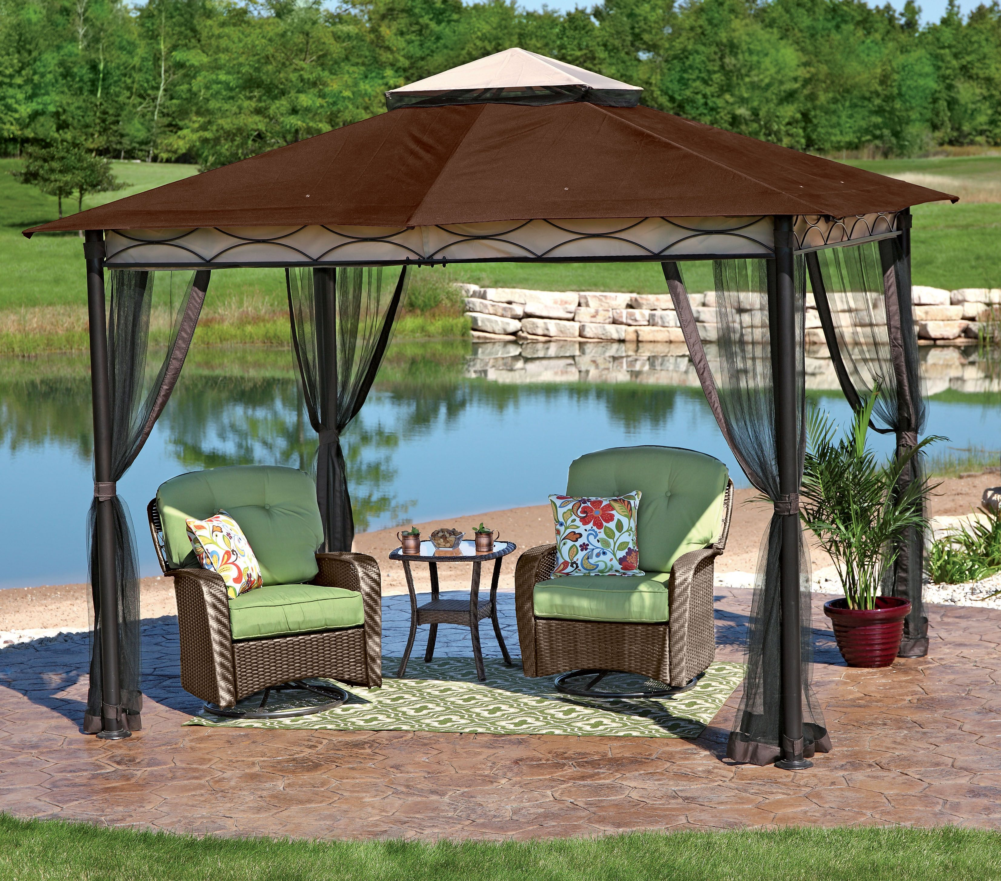Youu0027ve Got It Made In The Shade With This NorthCrest Gazebo   Only At · Patio  Furniture ...