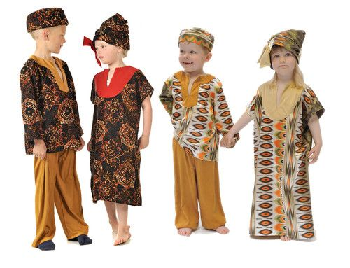 Details about Children\u0027s Kids Boys Girls African Girl Lady
