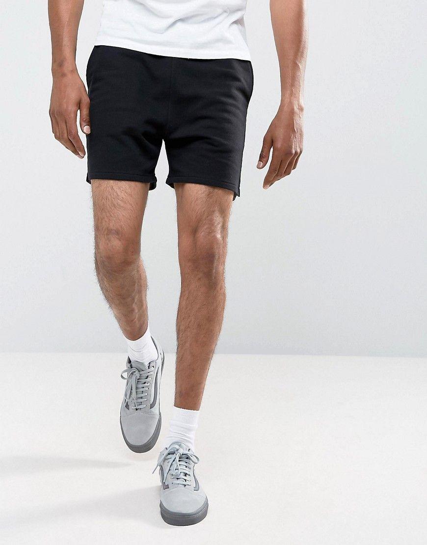 ASOS Jersey Shorts In Black - Black