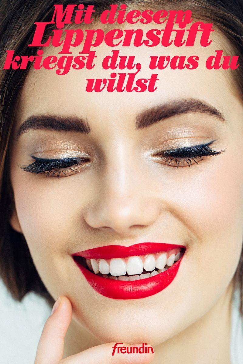 Bestimmte Lippenstift-Farben für Lippenformen zu verwenden
