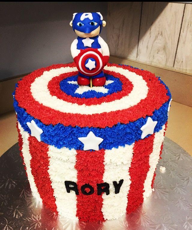 Captain America Buttercream Icing Cake Cake Reciepe