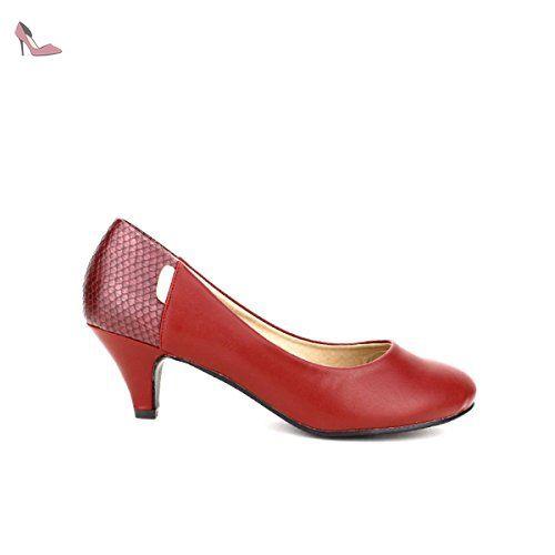 Chaussures Rouge Dentani Escarpin Femme Mode 41 Taille Cendriyon nqBIa5xn