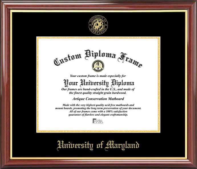 University of Maryland College Park Diploma Frame - Embossed Seal - uncc resume builder